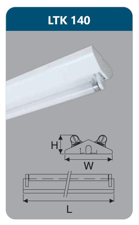 Đèn công nghiệp sơn tĩnh điện1x18w LTK140