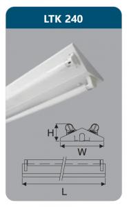 Đèn công nghiệp sơn tĩnh điện2x18w LTK240