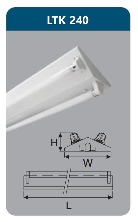 LTK240, V-SHAPE, đèn chữ V, đèn led công nghiệp