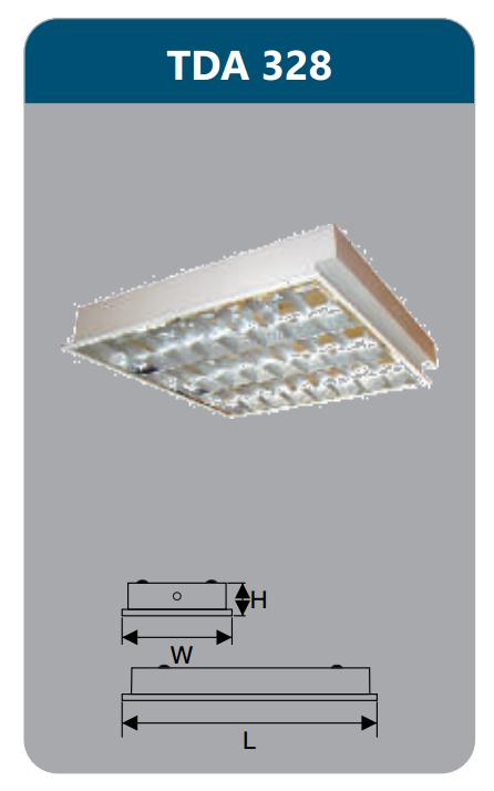 Máng đèn phản quang âm trần T5 3x28w TDA328