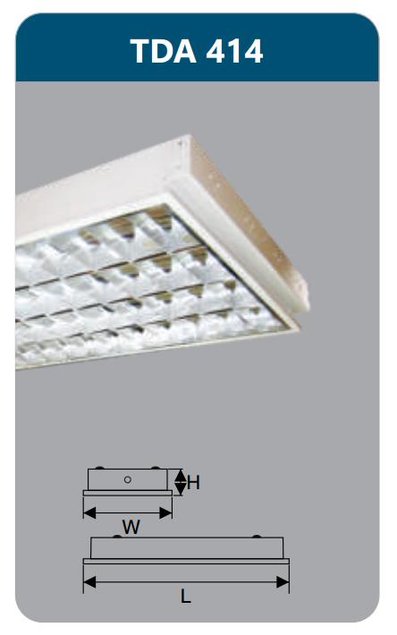Máng đèn phản quang âm trần T5 4x14w TDA414