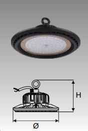 Đèn Led công nghiệp chống thấm 50W (DDB050)