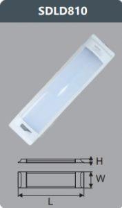 Đèn ốp trần led chụp mica 10w SDLD810