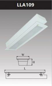 Máng đèn led tán quang âm trần chụp mica 1x9w LLA109
