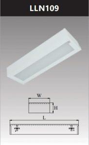 Máng đèn led tán quang gắn nổi chụp mica 1x9w LLN109