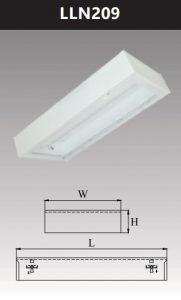 Máng đèn led tán quang gắn nổi chụp mica 2x9w LLN209