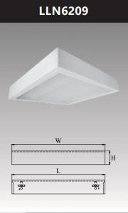 Máng đèn led tán quang gắn nổi chụp mica 2x9w LLN6209