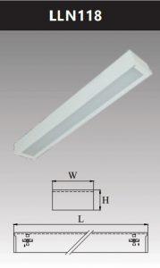 Máng đèn led tán quang gắn nổi chụp mica 1x18w LLN118