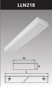Máng đèn led tán quang gắn nổi chụp mica 2x18w LLN218