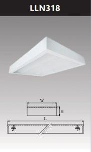 Máng đèn led tán quang gắn nổi chụp mica 3x18w LLN318