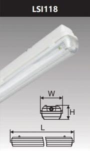 Đèn chống thấm 1x18w LSI118