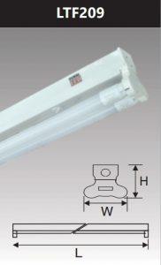 Đèn led batten T8 2x9w LTF209