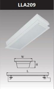 Máng đèn led tán quang âm trần chụp mica 2x9w LLA209