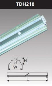 Đèn công nghiệp phản quang 2x18w TDH218