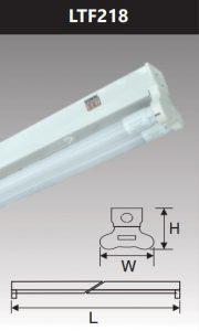 Đèn led batten T8 2x18w LTF218