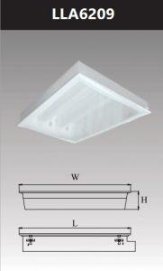 Máng đèn led tán quang âm trần chụp mica 2x9w LLA6209