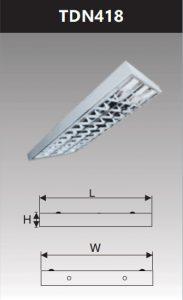 Máng đèn phản quang gắn nổi 4x18w TDN418