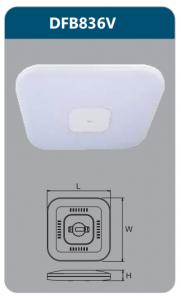 Đèn ốp trần led điều khiển 36w DFB836V