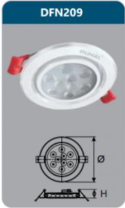 Đèn âm trần led chiếu điểm 9w DFN209