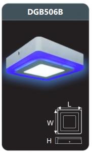Đèn led panel màu gắn nổi 6w DGB506B