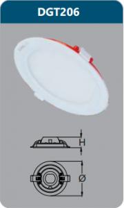 Đèn led panel âm trần tròn 6w DGT206