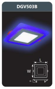 Đèn led panel màu âm trần 3w DGV503B