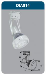 Đèn led chiếu điểm thanh ray 5w DIA814