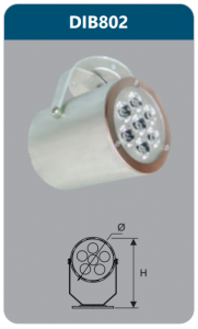 Đèn led chiếu điểm gắn trần 7w DIB802