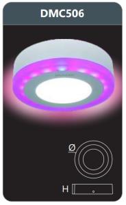 Đèn led panel đổi màu gắn nổi 6w DMC506