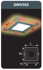Đèn led panel đổi màu âm trần 3w DMV503