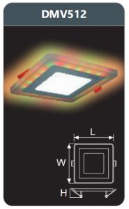 Đèn led panel đổi màu âm trần 12w DMV512