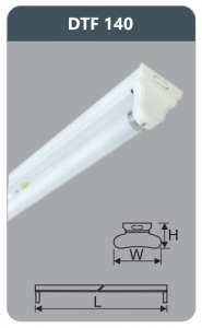 Đèn huỳnh quang siêu mỏng 18w DTF140