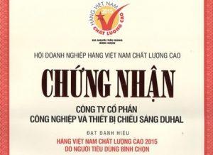 DUHAL đạt danh hiệu Hàng Việt Nam Chất Lượng Cao do người tiêu dùng bình chọn