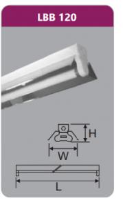 Đèn công nghiệp phản quang 1x9w LBB120