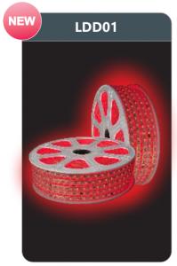 Đèn led dây cao áp ánh sáng đỏ LDD01