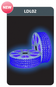Đèn led dây cao áp ánh sáng xanh lam LDL02