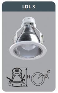 Đèn led downlight âm trần 3w LDL3