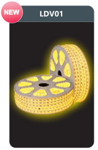 Đèn led dây cao áp ánh sáng vàng LDV01