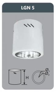Đèn led downlight gắn nổi 9w LGN5