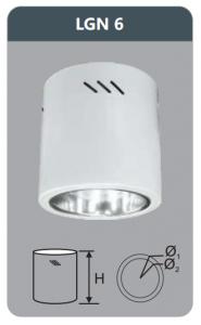 Đèn led downlight gắn nổi 12w LGN6
