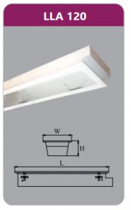 Máng đèn tán quang âm trần 1x9w LLA120