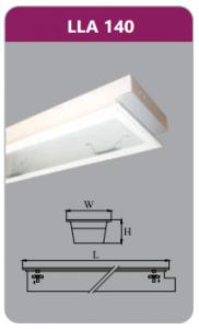 Máng đèn tán quang âm trần 1x18w LLA140
