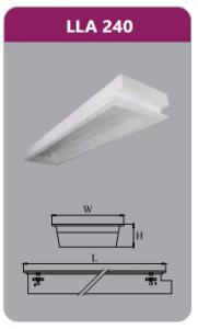 Máng đèn tán quang âm trần 2x18w LLA240
