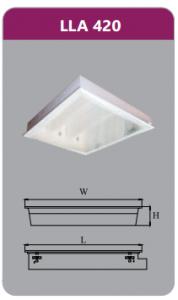 Máng đèn tán quang âm trần 4x9w LLA420