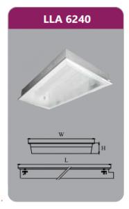 Máng đèn tán quang âm trần 2x18wLLA6240
