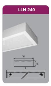Máng đèn tán quang gắn nổi 2x18w LLN240