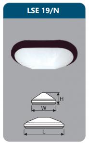 Đèn ốp trần 9w LSE19/N
