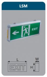 Đèn led thoát hiểm 2w LSM