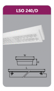 Máng đèn tán quang âmtrần2x18wLSO240/D