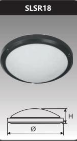 Đèn ốp trần cao cấp 18w SLSR18/O
